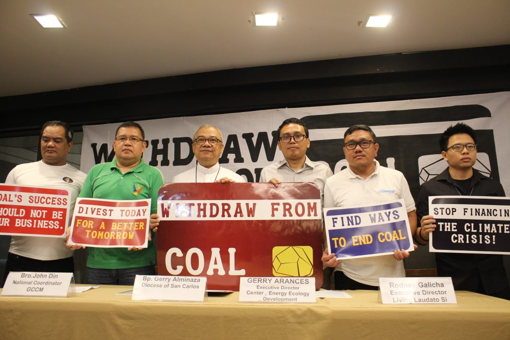 WITHDRAW FROM COAL: Church, civil society, and energy advocates demand new decade's resolution from PH banks