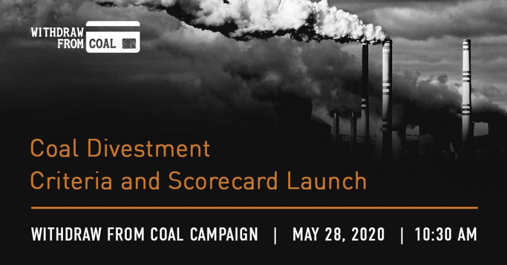 Withdraw From Coal: Coal Divestment Criteria and Scorecard