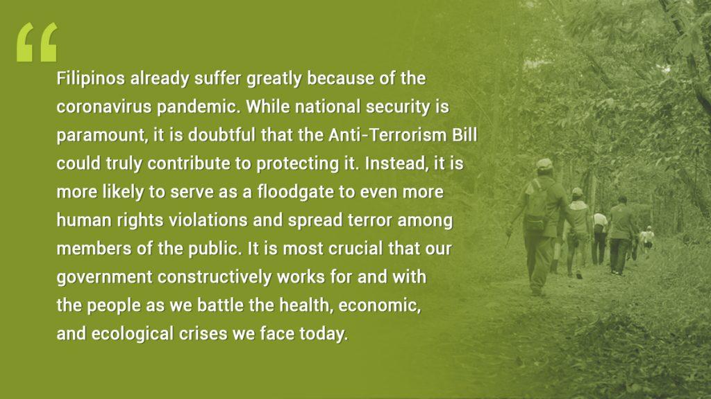 CEED Statement on the Anti-Terrorism Bill