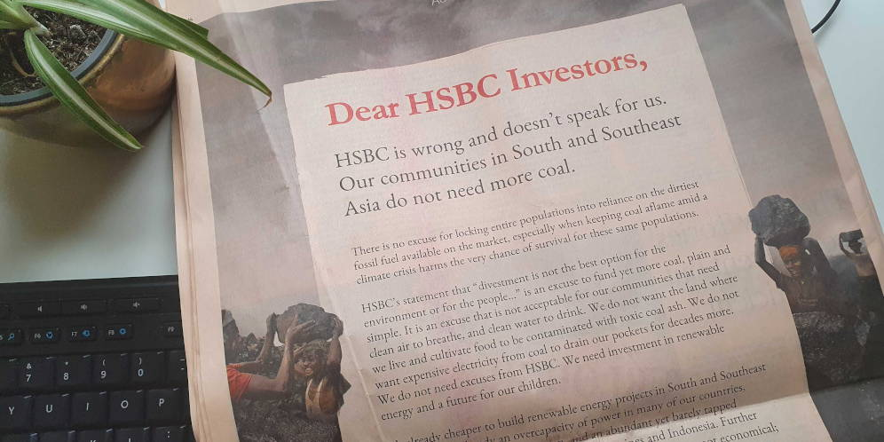 HSBC's 2040 coal phaseout still too late for Asia