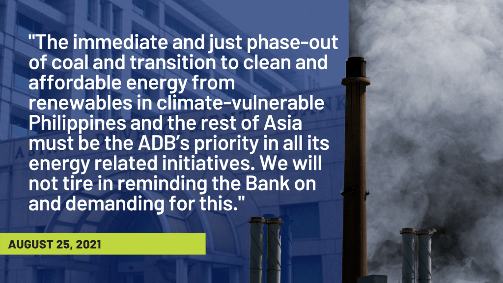 Think-tank Questions ADB Coal Buy-Out Scheme